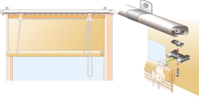 スクリーンタイプ カーテンレール付け 取付方法